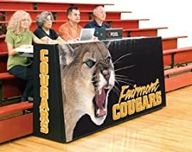 Bison ST85B Sport Pride™ Graphic Scorers Table - Bleacher Model (Call 1-800-398-7625 to order)