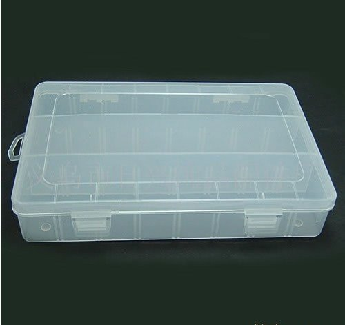 Small Parts or Beads Display Storage Box Case with 24 Compartments