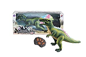 R/C Remote Control Dinosaur, Walks, Roars, Lights Up. Green