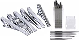 Mens Collections Set of 6 Tie Clips and 28 Collar Stays (6 tie clips with 28 collar stays)