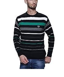 Leebonee Acrylic Men's Full Sleeve Black Sweater