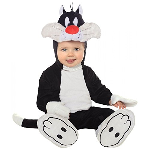 [GSG Sylvester Costume for Baby Looney Tunes Cat Halloween Fancy Dress] (Infant Sylvester Costumes)