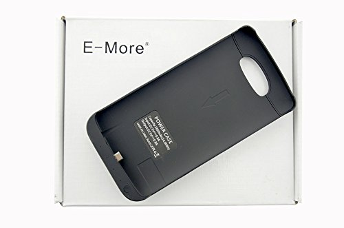 E-More® Ultra Slim 3800Mah Backup Rechargeable Extended External Battery Case With Kick-Stand For Lg G3 (Black)