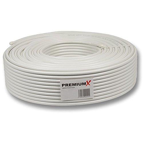 30m Koaxial Kabel BASIC 130 dB 4-Fach geschirmt, SAT Koax Antennenkabel 130dB 3D FullHD 1080p HDTV tauglich Neu