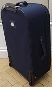 Navy Medium 77 lts Travel Luggage suitcase On Wheels EXPANDING trolly Light Weight