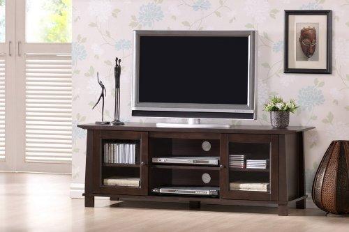 Cheap Baxton Studio Havana Wood Modern Plasma TV Stand, Brown (RT157F-OCC)