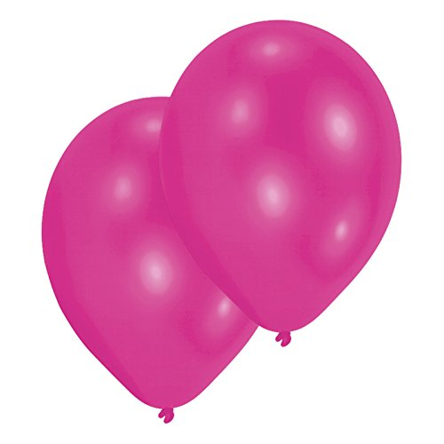 Amscan International Lot de 25 ballons en Latex 27,5 cm, métal-Magenta