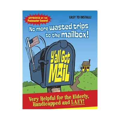 Amazon.com : The Y'all Got Mail Alert Flag : Mailbox Flag Alert