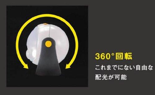 ムサシ RITEX 「自由に曲がる三脚で様々な場所に取付可能! 」 LEDどこでもセンサーライト ASL-090