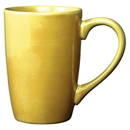 American Simplicity Stoneware Mug Set of 4 - Yellow (15oz) : Target
