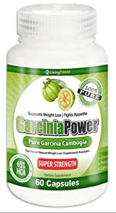 Pure Garcinia Cambogia | Super Strength Garcinia Power Extract with 65% HCA | No Risk Money Back Guarantee | Organic Garcinia For Weight Loss | Garcinia Cambogia with Potassium, Calcium and Chromium | Dr. Oz Recommends Natural Garcinia Cambogia