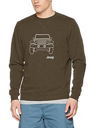 Jeep Sudadera O100712 (Marrón / Gris Claro)