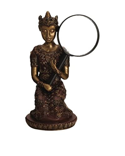Bombay Company Buddha Magnifying Glass Holder, Bronze