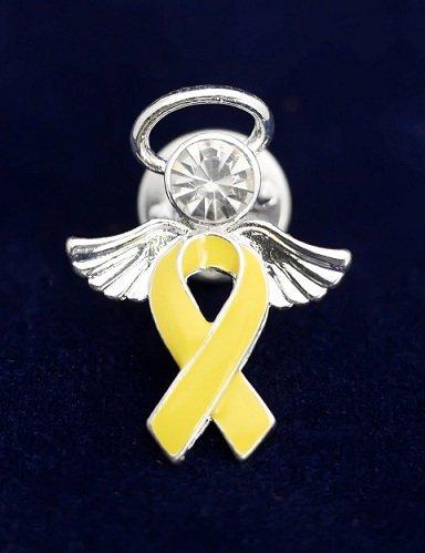 Gold Ribbon Pin- Angel Tac (36 Pins)