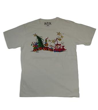Amazon.com: Dr Seuss Grinch Whoville Train T-Shirt, White, X-Large ...