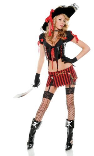 Sultry Swashbuckler Womens Pirate Costume - Medium/Large