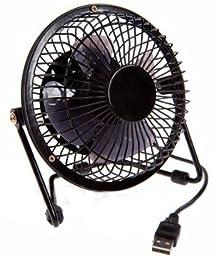 USB Retro Desk Fan (Black)