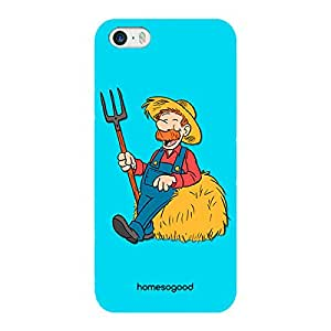 HomeSoGood Farmer Profession Blue 3D Mobile Case For iPhone 5 / 5S (Back Cover)