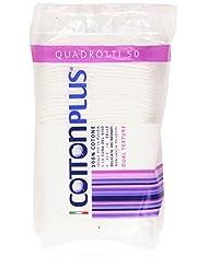 Cotton Plus - 50 disques en coton 100% coton hydrophile Texture double