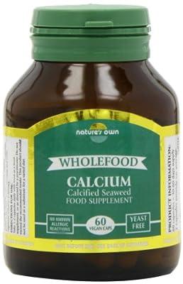 Natures Own Organic 200mg Whole Food Calcium 60 Capsules
