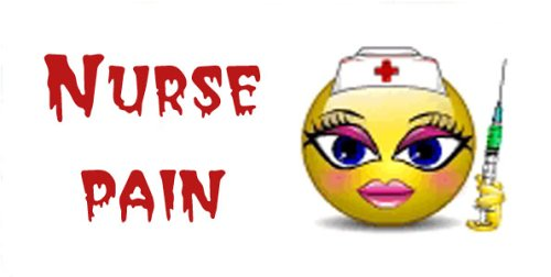 Airbrush License Plate - Smiley Nurse Pain- #1566