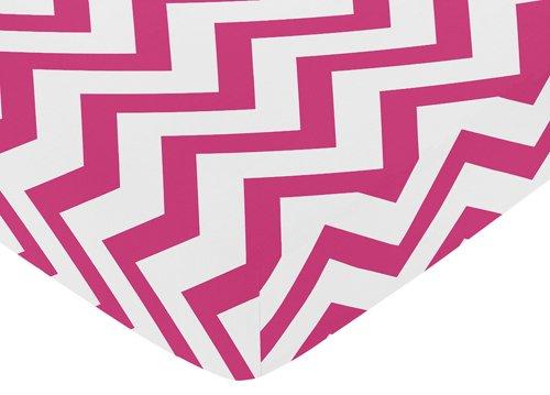Hot Pink Chevron Bedding 7234 front