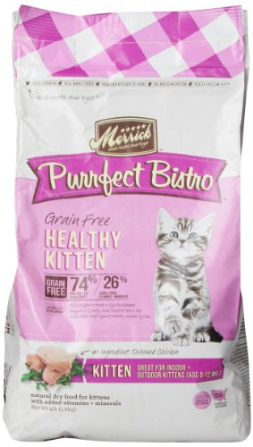 Merrick Purrfect Bistro Grain Free Healthy Growth Recipe Cat Food, 4-Pound