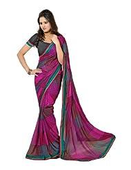 Indian Designer Wear Yellow & Brown Chiffon Printed Saree-LXASR381AAL
