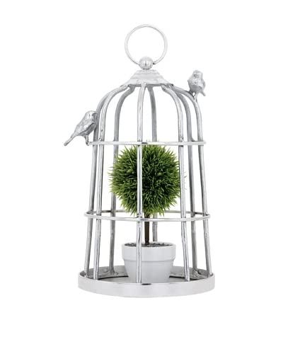 Torre & Tagus Birdcage Décor, Silver As You See