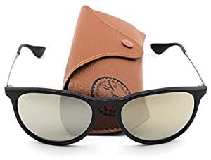 Ray-Ban RB4171 601/5A Erica Sunglasses Black Frame / Light Brown Mirror Gold Lens