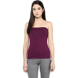 Ajile by Pantaloons Women's Casual Solid Tube Top (205000005588886_Purple_ XL)