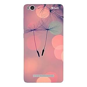 Customizable Hamee Original Designer Cover Thin Fit Crystal Clear Plastic Hard Back Case for Xiaomi Mi 4i / Mi4i (Floating Buds / Pink)