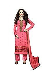 Mahaveer Fashion Women's Net Semi-Stitched Anarkali (herrite_Blue_Free Size)