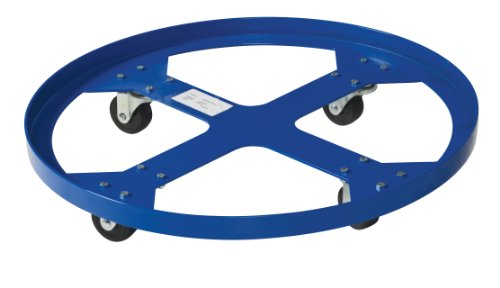 "Vestil Drum-Sp-28-9-H Steel Overpack Drum Dolly, 900 Lbs Capacity, 28"" Id X 28-3/8"" Od"