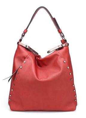 K63008L MyLux Close-Out Women/Girl Big Hobo handbag Burgundy