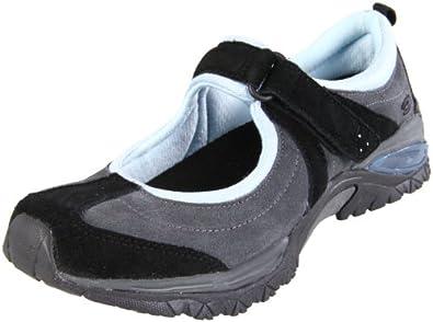 Dr. Scholl's Women's Hazel Mary-Jane Sneaker,Black/Light Blue,6.5 M US