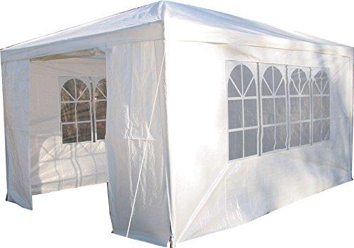 Airwave, Gazebo da giardino, incl. barra anti-vento, 3 x 4 m, colore: Bianco