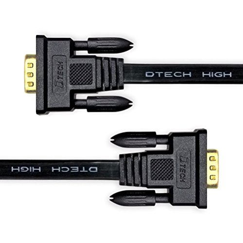 DTECH Ultra Thin Flat Type Computer Monitor VGA Cable Standard 15