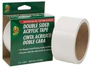 Duck Brand 280456 Double-Sided Vinyl Flooring Tape, 2-Inch by 50 Feet, Single Roll