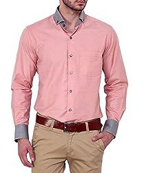 Dazzio Men's Slim Fit Cotton Casual Shirt (DZSH0134_Grey_42)