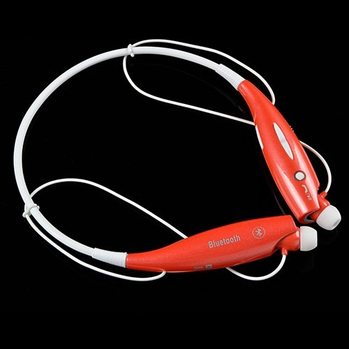 Ablegrid® Trademarked Hv-800 Wireless Bluetooth Sports Headset Stereo Music Headset Universal Neckband For Cellphones (Red)