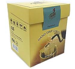 FLAFFE HAND DRIP COFFEE Hazelnut Coffee Pour Over Coffee, Ground Coffee, Single Serve Coffee, Coffee Maker, 10 Count