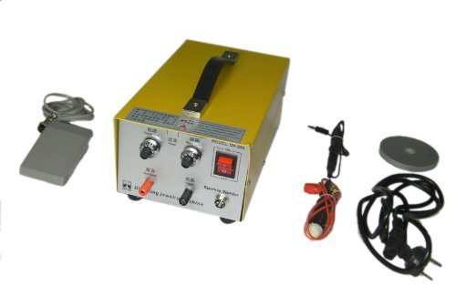 Pulse Sparkle Spot Welding Machine 200W Jewelry Welder for Necklace Gold Silver Platinum 110V