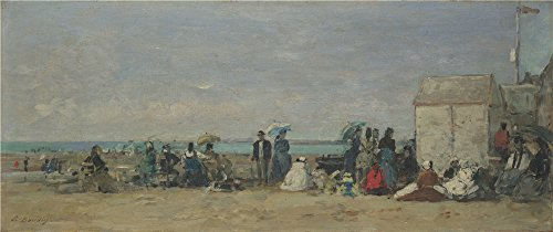 Oil Painting 'Eugene Boudin - Beach Scene, Trouville (1),about 1870-4', 20 x 48 inch / 51 x 121 cm , on High Definition HD canvas prints, gifts for Bath Room, Home Theater And Living Room Decoration (West End Griddle compare prices)