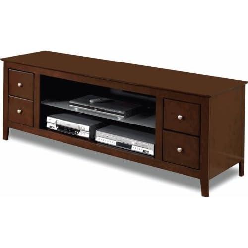 tech craft cr64m avalon wood tv stand. Black Bedroom Furniture Sets. Home Design Ideas