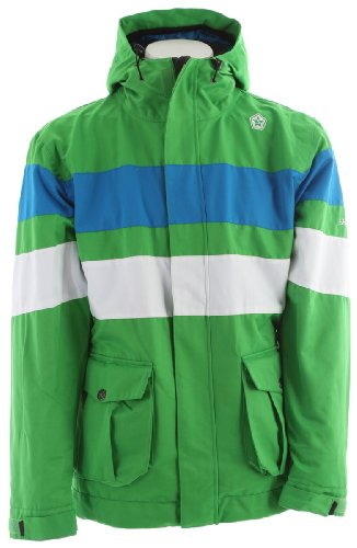 Sessions Player 2 In 1 Ski Snowboard Jacket Kelly Green Sz L