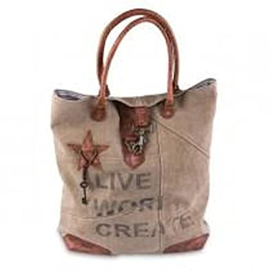 Ihf Home Decor M2072 Live Work Create Tote Bag Handbags