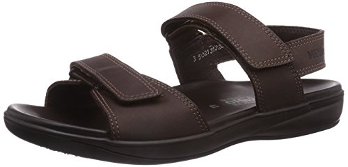 Mephisto SIMON GRIZZLY 151 DARK BROWN, Sandali uomo, Marrone (Braun (DARK BROWN)), 45