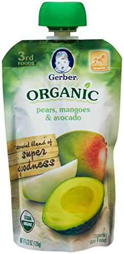 Gerber Organic 3rd Foods Fruits - Pears Mangoes & Avocado - 4.23 oz - 6 pk