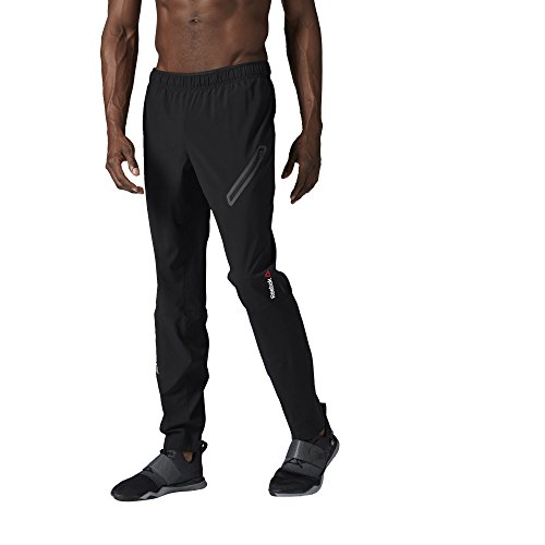Reebok Men's One Series Woven Trackster Pants, Small, Black (Reebok Running Gear compare prices)